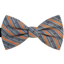 Butterfly gray bow tie, orange stripes, new pattern