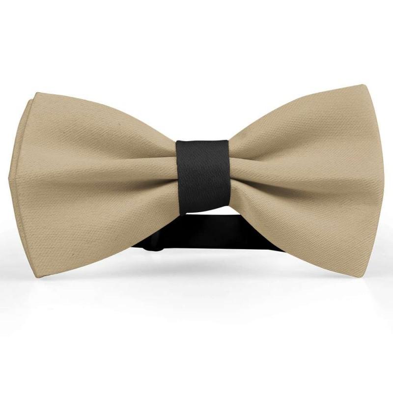 nueva precios más bajos gran colección alta moda Pajarita, beige, mariposa, satén de seda, uni, semi brillante, handmade,  casual