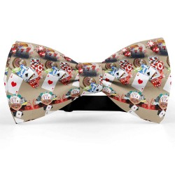 Bow Tie for Men, beige, butterfly, silk satin, personalized, shiny, handmade