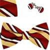Bow tie, handkerchief & cufflinks
