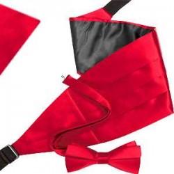 Bow tie, handkerchief & cummerbund