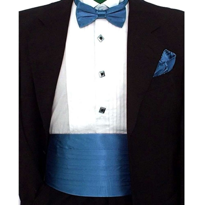 0e3606636e527 ... handkerchief & cummerbund light blue smart handmade set