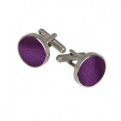 Cufflinks, purple, silk