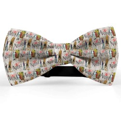 """Bow Tie for Men, gray, butterfly, silk satin, personalized, non-shiny,  """"The Artist"""""""