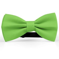 Bow Tie for Men, green, butterfly, silk satin, uni, non-shiny, handmade, casual