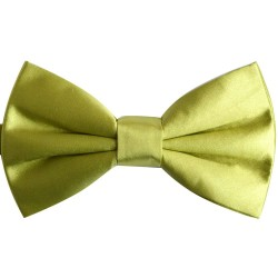 Bow Tie for Men, green, butterfly, silk satin, uni, shiny, handmade
