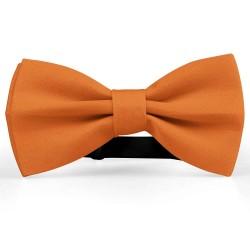 Bow Tie for Men, orange, butterfly, silk satin, uni, non-shiny, handmade