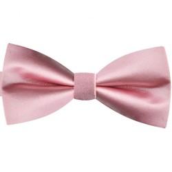 Classic shiny adjustable handmade dragée pink bow tie