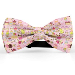 Bow Tie for Men, pink, butterfly, silk satin, personalized, shiny, handmade