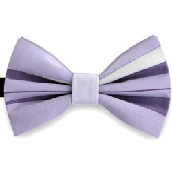 Bow Tie for Men, purple, butterfly, silk satin, with model, non-shiny,horizontal wide stripes, handmade