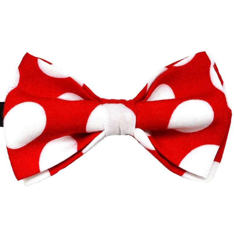 c4a9b7f105 Piros férfi csokornyakkendő, fehér pöttyök, kézzel készített