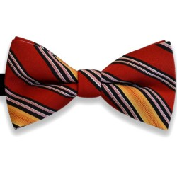 """Bow Tie, classic, red, elegant, """"Double Stripes"""""""