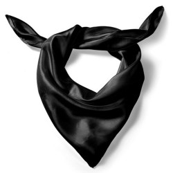 Silk scarf, black