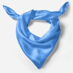 Silk scarf, blue