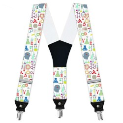 "Suspenders, white, personalized, ""Medical Laboratory Scientist"""