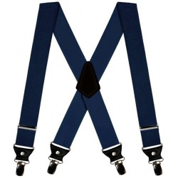 Dark blue double men suspenders