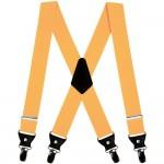 Men suspenders, braces, mustard yellow, double, 4 cm wide