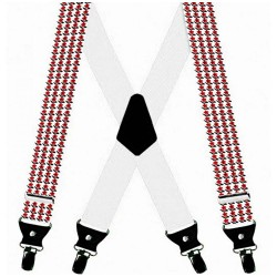 Traditional floral design suspenders, custom made, 3.5 cm wide
