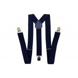 Dark Blue Simple Men Suspenders