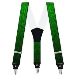 "Suspenders, personalized, ""Green Snowflake"""