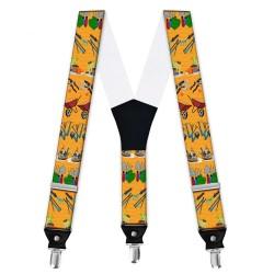 """Suspenders, personalized, """"Garden Tools"""""""