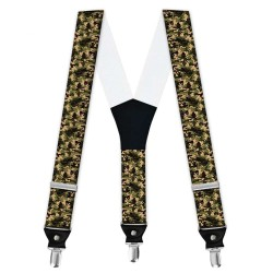 """Suspenders, personalized, """"Camouflage Woodland"""""""