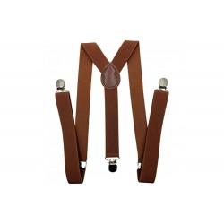 Brown Simple Men Suspenders