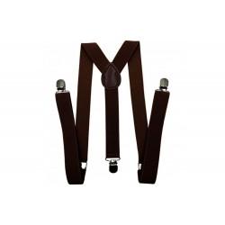 Dark Brown Simple Men Suspenders