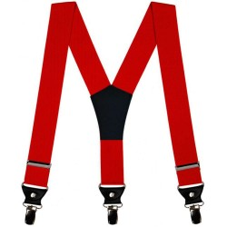 Red men suspenders, simple, 3.5 cm wide