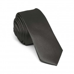 Slim gray one-coloured tie for men