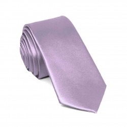 Slim purple lilac one-coloured tie for men