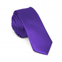 Slim mauve one-coloured tie for men