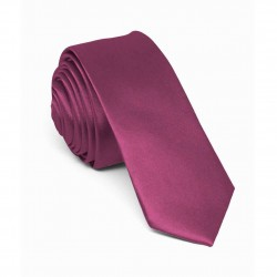 Slim purple one-coloured men tie