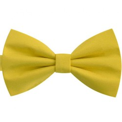 Butterfly smart non-shiny imperial straw yellow bow tie for men