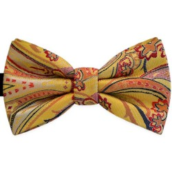 """Bow Tie, yellow, butterfly, elegant, """"Abstract Flower"""""""