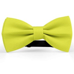 Bow Tie for Men, yellow, butterfly, silk satin, uni, non-shiny
