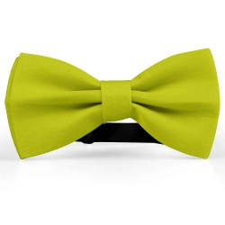 Bow Tie for Men, yellow, butterfly, silk satin, uni, non-shiny, casual